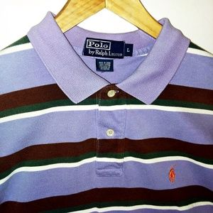 Polo by Ralph Lauren Striped Polo Men's Size Large